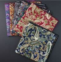 Premium Vintage Mens Paisley Floral Pocket Square Handkerchief Hanky Wedding UK
